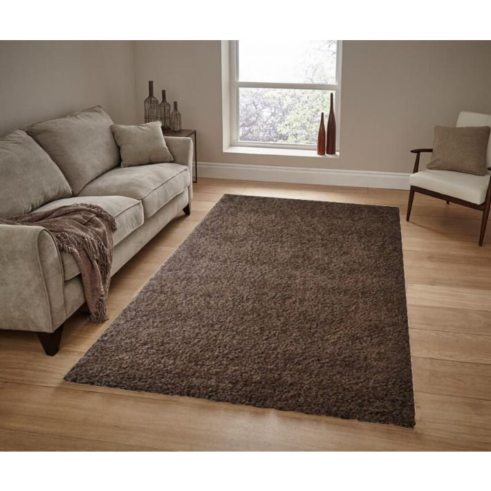 Jónás Minőségi, Vastag, Shaggy szőnyeg barna színben 200x290cm