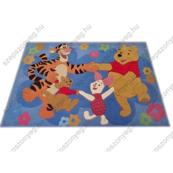 Disney szőnyeg - Micimackó, Tigris, Malacka, Zsebibaba 115x168cm