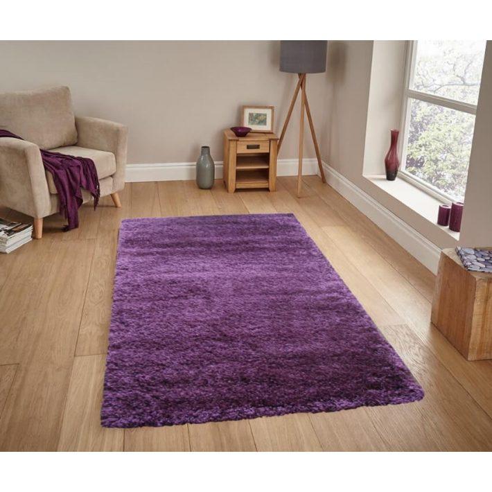 Damien Lila Shaggy szőnyeg 80 x 150 cm