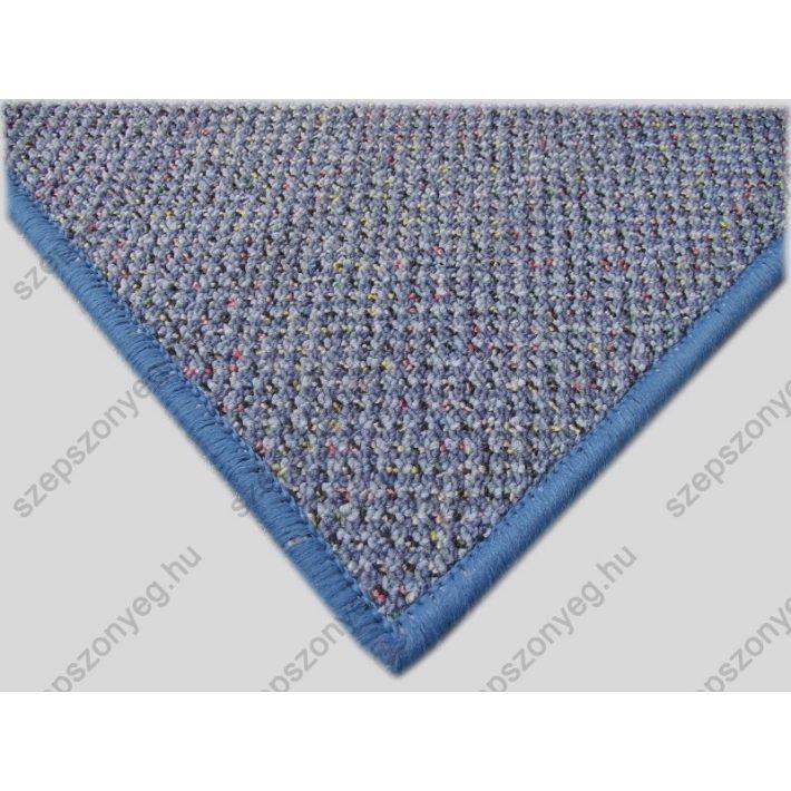 Eleonóra Strukturbuklé Irodai padlószőnyeg kék színben 4m széles