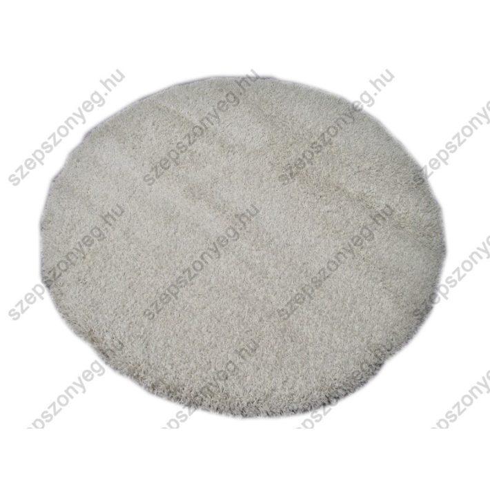 Gerle Oval-Kör alakú Shaggy szőnyeg fehér színben 160 cm