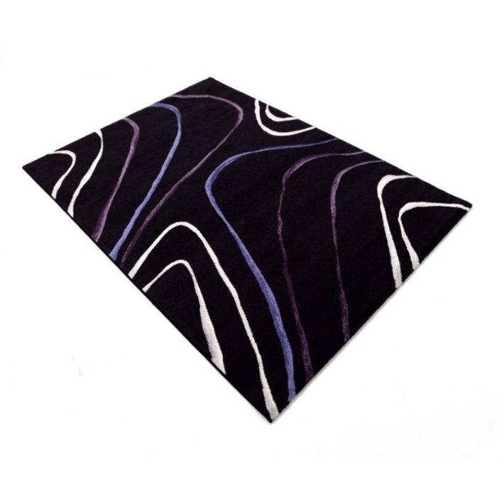 Casablanca Modern Mintás Szőnyeg 200x290cm fekete