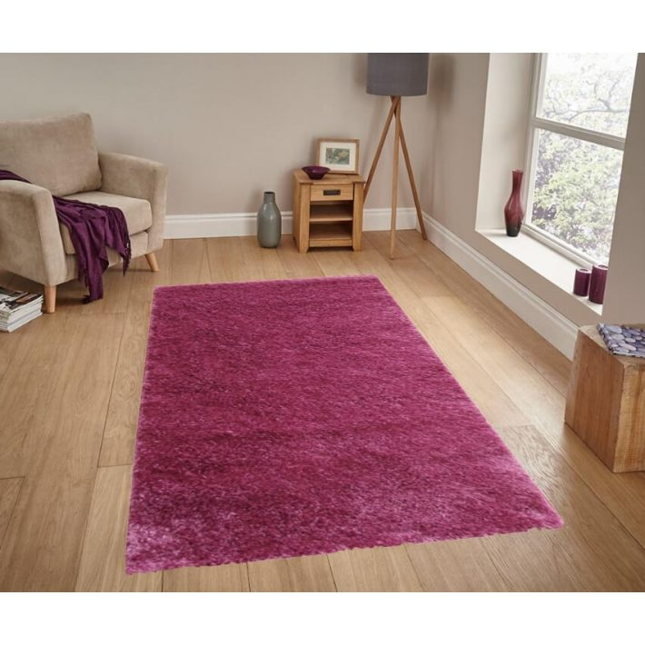 Bíborka Lila Shaggy szőnyeg 65 x 130 cm