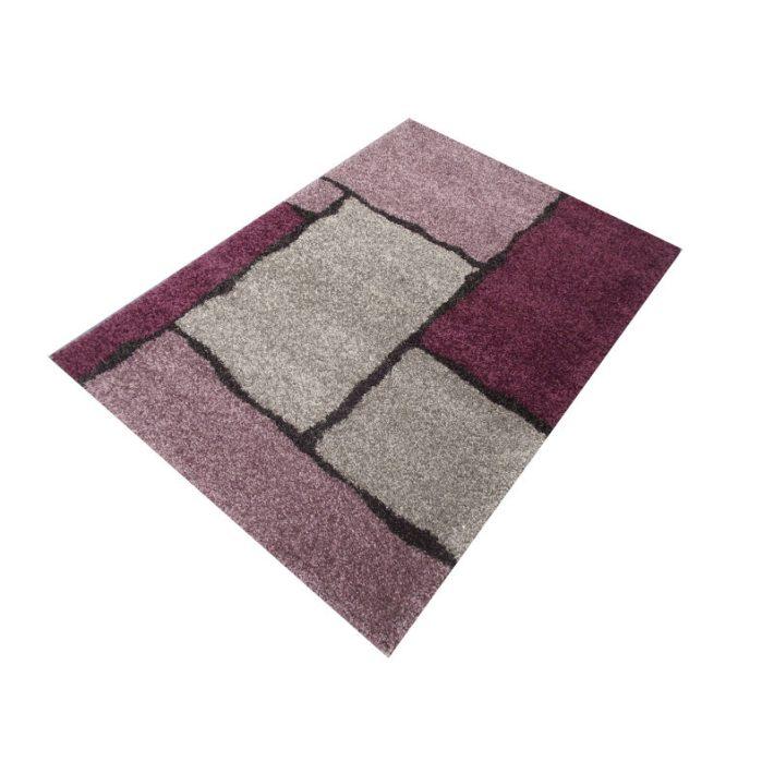 Alkonyat Minőségi Vastag Suba szőnyeg lila-szürke színben 160 x 230 cm