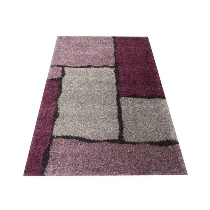 Alkonyat Minőségi Vastag Suba szőnyeg lila-szürke színben 200x290cm