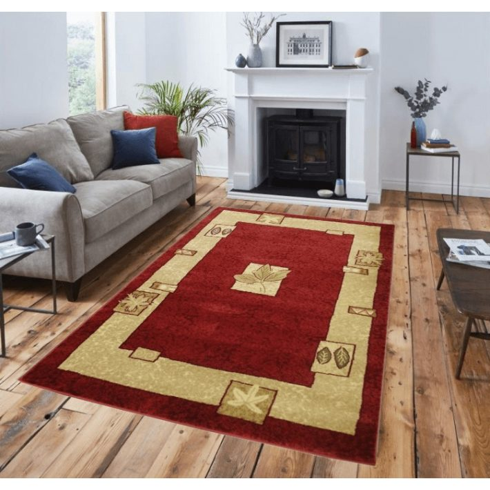 Arabella krém bordó szőnyeg 160  x 220  cm