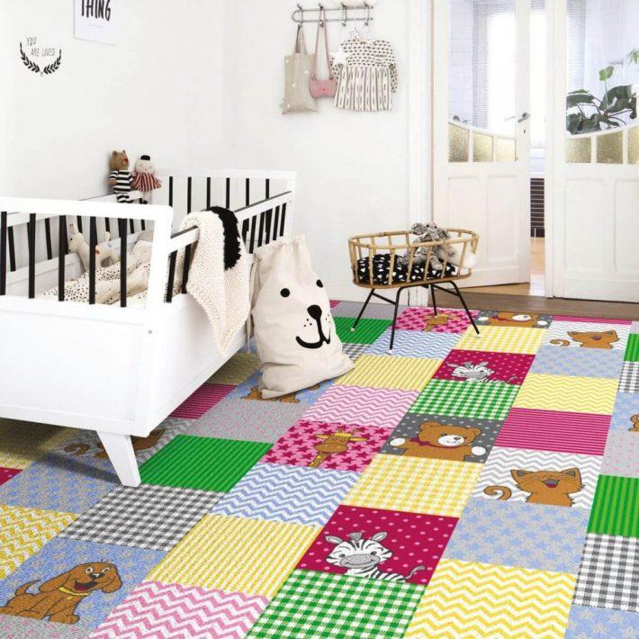 Padlószőnyeg Zöld Zizi 4 m széles