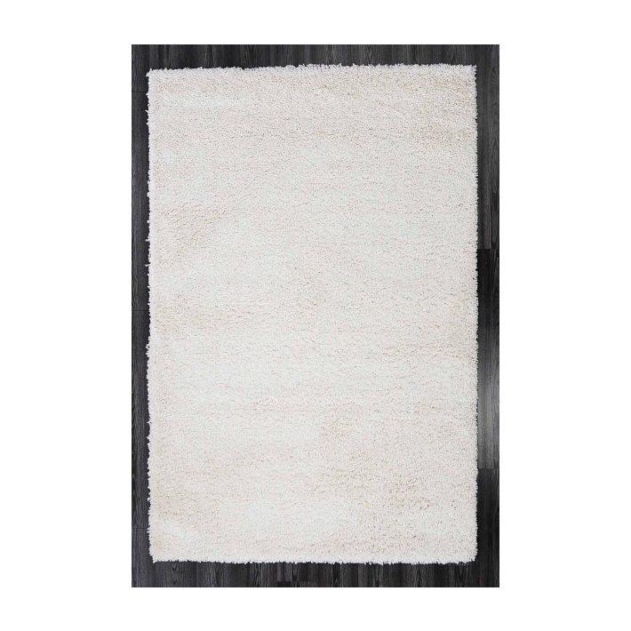 Bora Minőségi Vastag Shaggy szőnyeg hófehér színben 80 x 150 cm