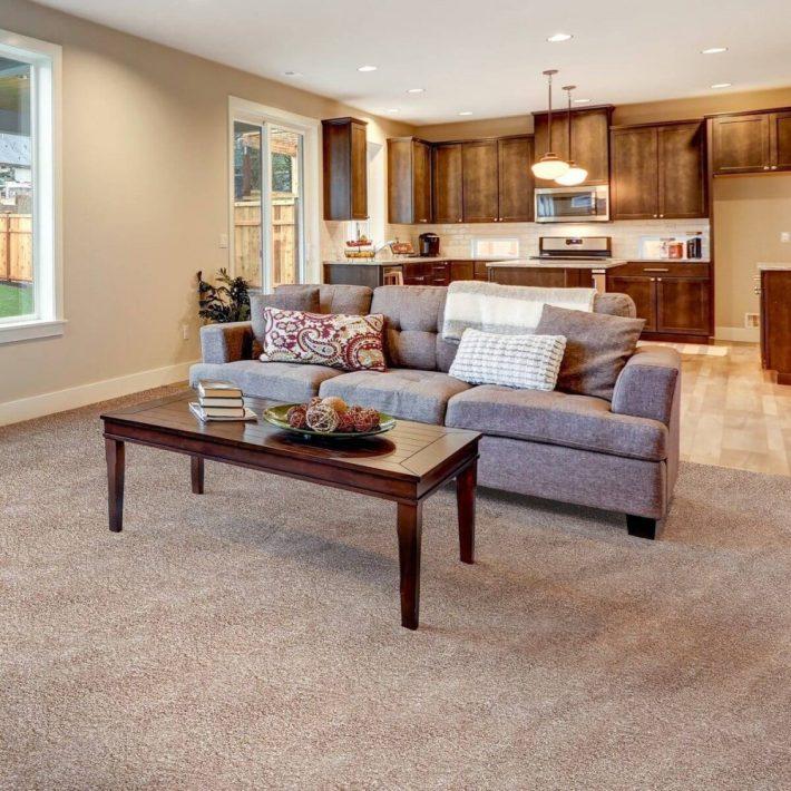 Alvina Buklé padlószőnyeg 4 m széles barna színben