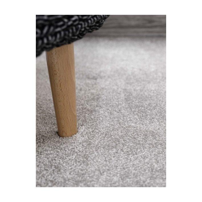 Bársonyka fehér shaggy minőségi padlószőnyeg 4 m széles
