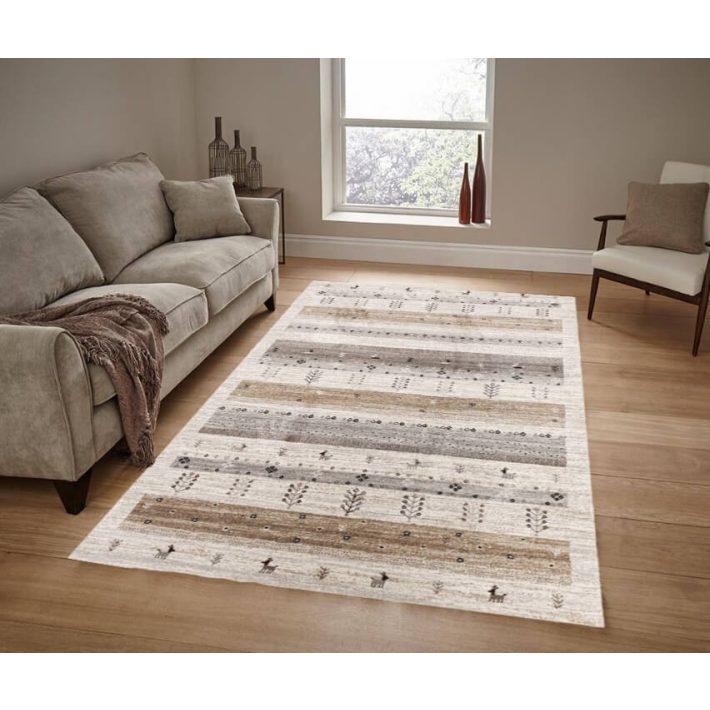 Gerda Modern Vastag szőnyeg szürke bézs színben
