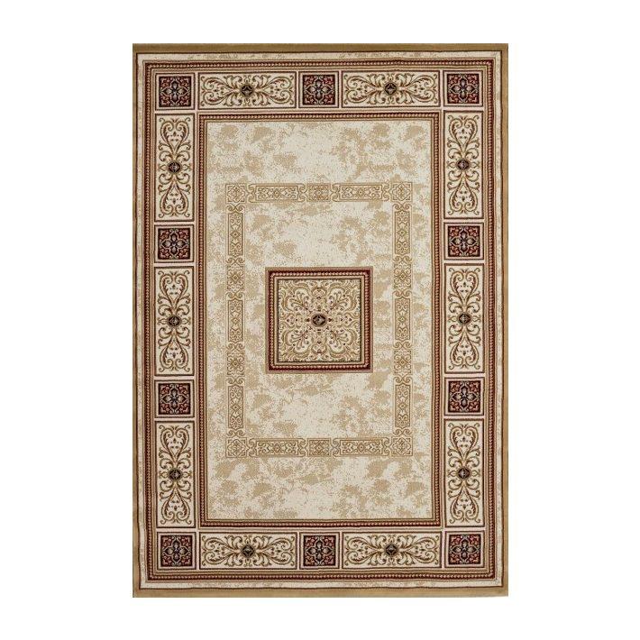 Barokk mintás rojtos bordó szőnyeg