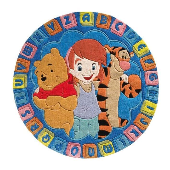 Disney Micimackó és Barátai kör alakú Gyerekszőnyeg kék 150 cm