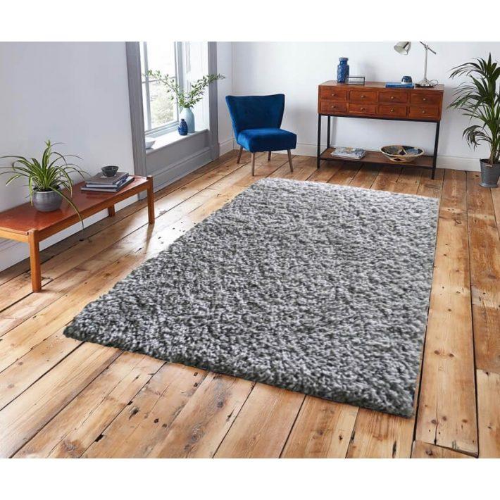 Kloé Vastag Ezüst szürke Prémium shaggy szőnyeg 200 x 290 cm