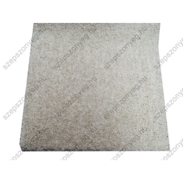 Rhea Fehér Shaggy Padlószőnyeg 4m széles