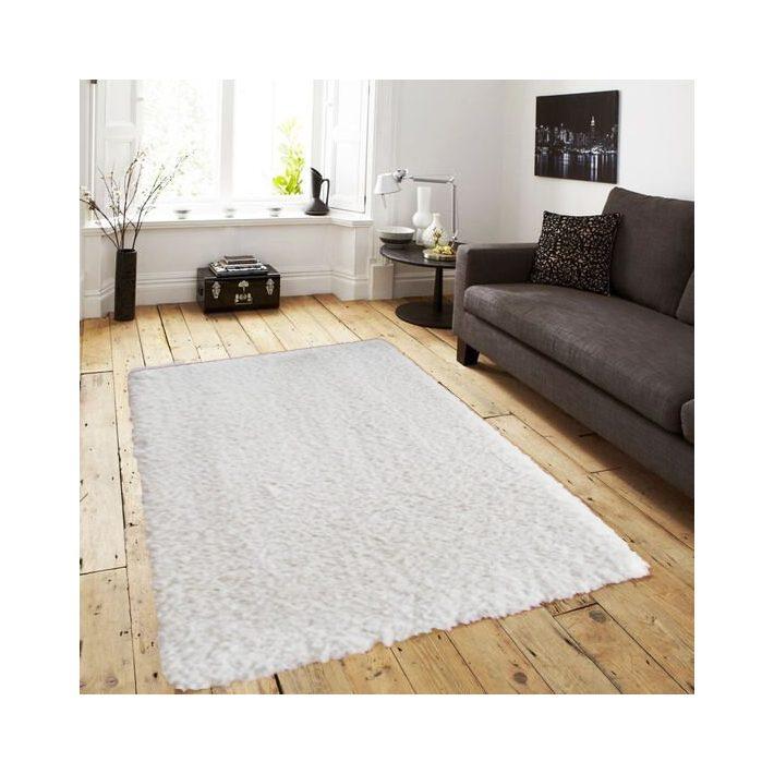 Bora Minőségi Vastag Shaggy szőnyeg hófehér színben 160 x 230 cm