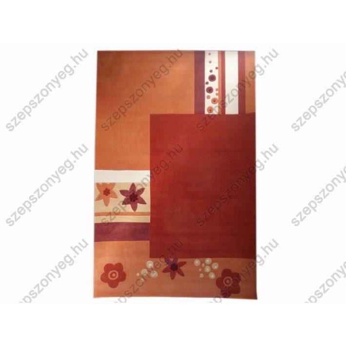 Heni narancs fehér terra szőnyeg kézi tűzésű 200 x 300