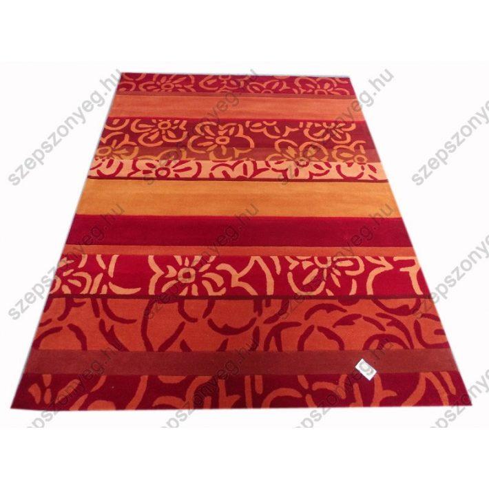 Jessyca narancs bordó szőnyeg kézi tűzésű 160 x 230 cm