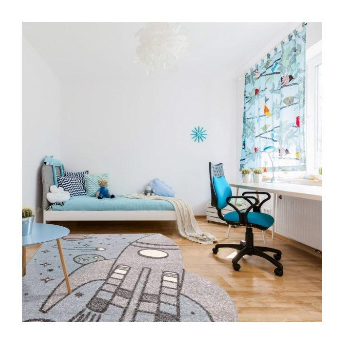 Etan Szürke Űrhajós Nyírt Gyerekszőnyeg