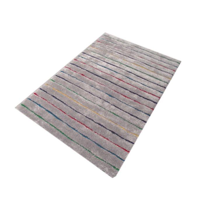 Tomas Ezüst Szürke Shaggy szőnyeg 160 x 230 cm