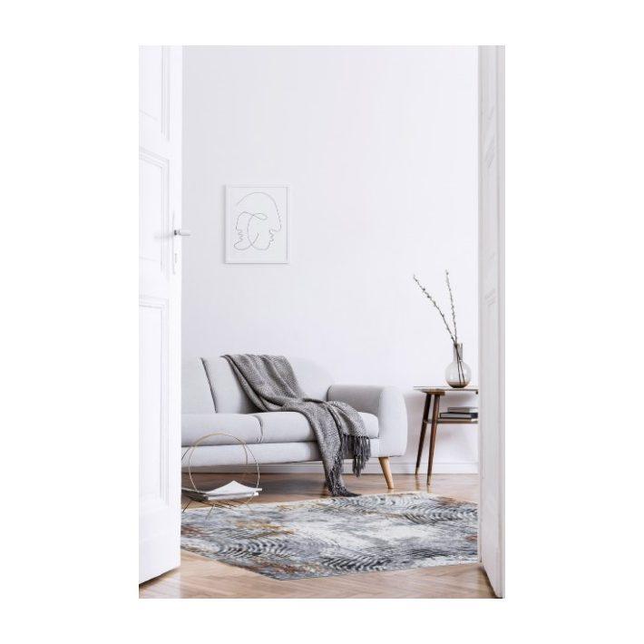 Lylla Modern mintázatú Nyírt szőnyeg lila színben 67 x 140 cm