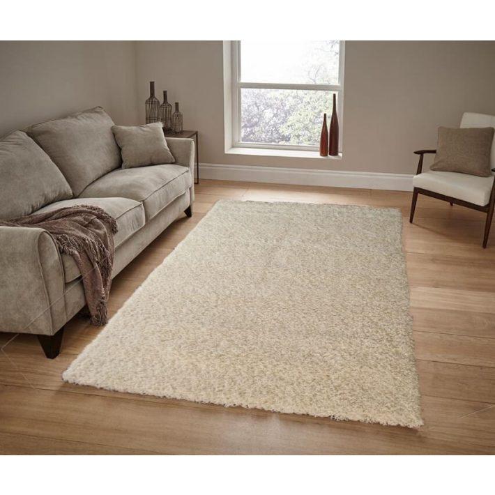 Babett Minőségi Vastag Shaggy szőnyeg krém színben 160 x 230 cm