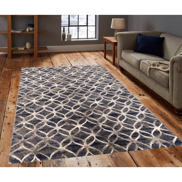 Lylla Modern mintázatú szőnyeg kék színben