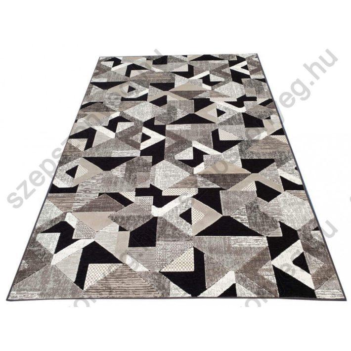 Palmas minőségi modern szőnyeg barna szürke fekete