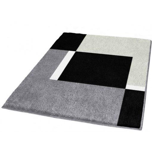 Alabástrom fekete fehér fürdőszoba szőnyeg prémium Kleine Wolke