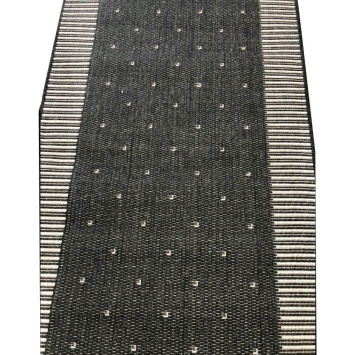 Amandina Antracitszürke Pöttyös Tekercses Futószőnyeg 80 cm Széles