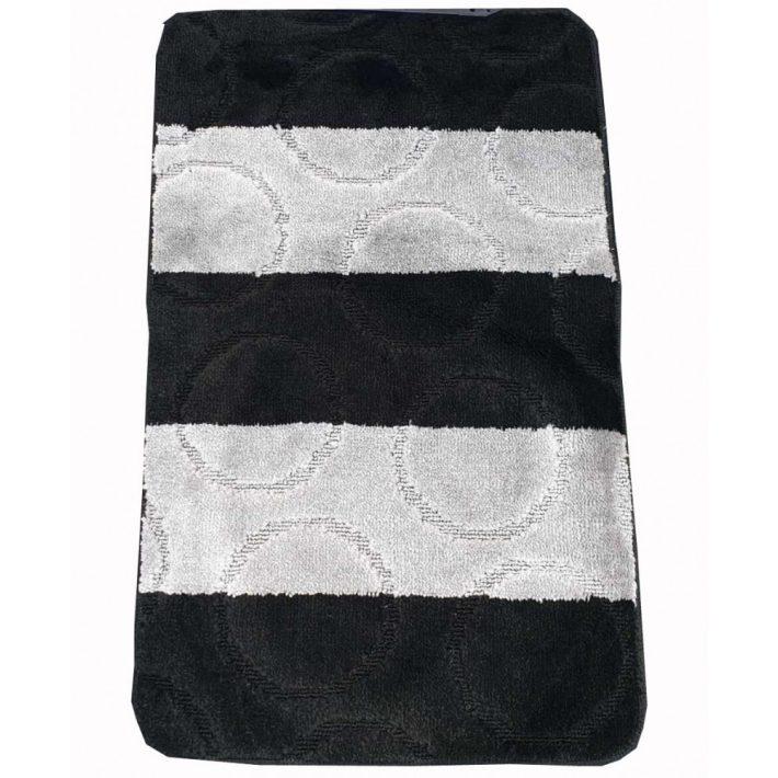 Barót Fekete Szürke Fürdőszoba Szőnyeg Szett 3 részes 50 x 80 cm