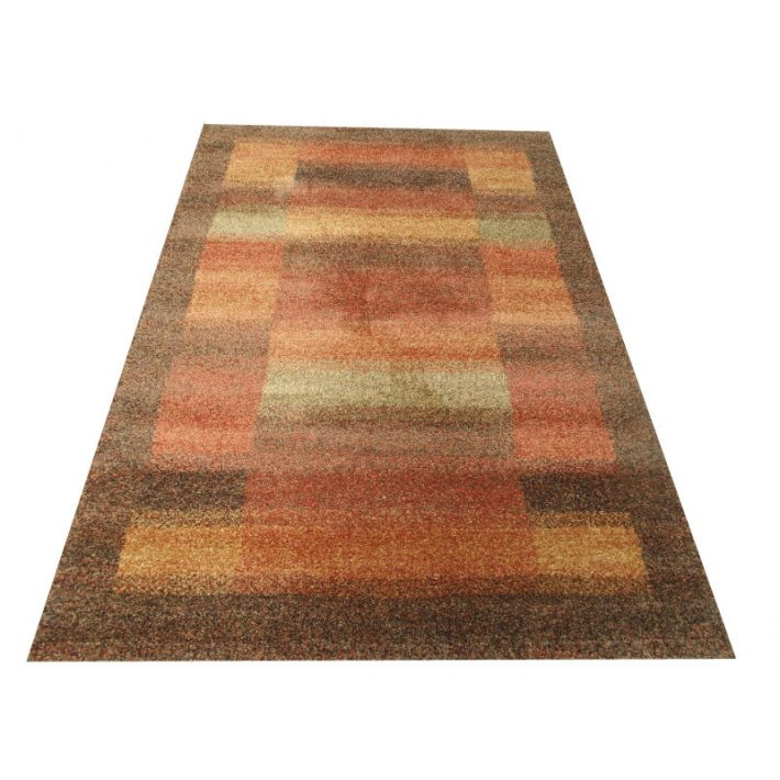 Pen Exkluzív Minőségű Vastag Suba szőnyeg barna-narancs színben 133 x 195 cm