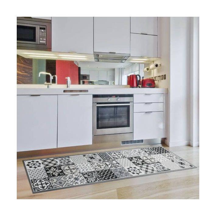 Bedecs Modern Konyha Szőnyeg Szürke Színben Prémium 50 x 150 cm