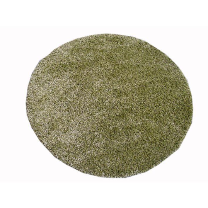 Toronto Pasztell Zöld Shaggy Kör Szőnyeg 160 cm