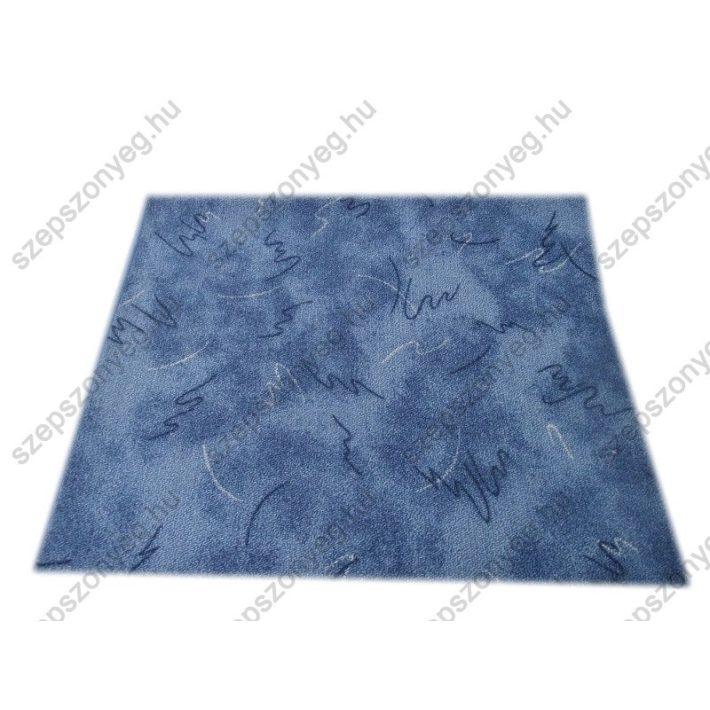 Rufus Kék színű Nyírt Padlószőnyeg 4 m széles