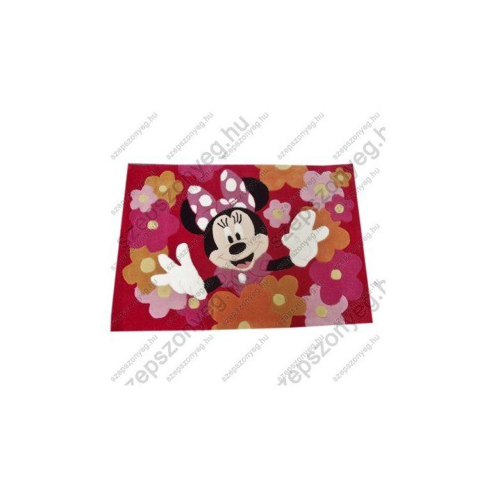 Örvendező Minnie Piros Disney Gyerekszőnyeg 80 x 120 cm