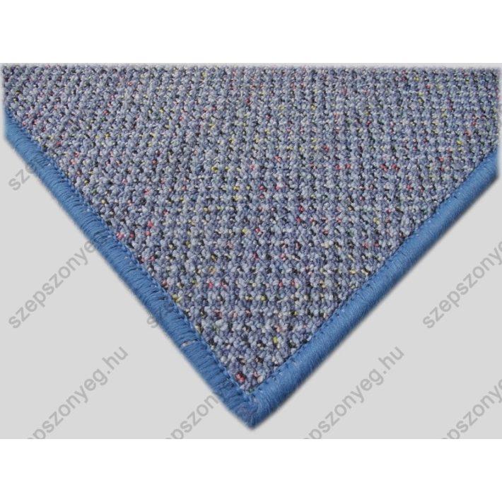 Juste Kék Strukturbuklé Irodai padlószőnyeg  4 m széles