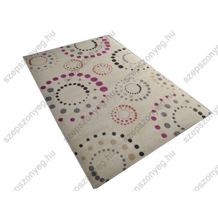 Sarolta Ifjúsági-Kamasz Nyírt szőnyeg krém-pink színben 160 x 230 cm