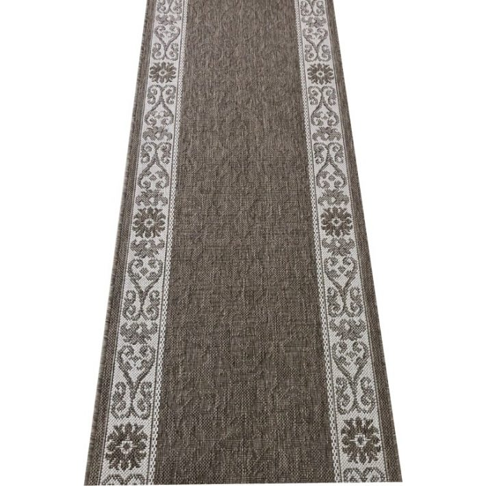 Evolett Drapp Fehér Színű Virágos Tekercses Futószőnyeg 67 cm Széles