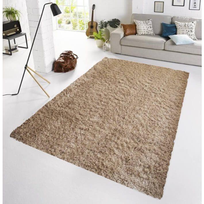 Alaszka Shaggy Sötét Bézs Exkluzív Design Szőnyeg 190 x 290 cm