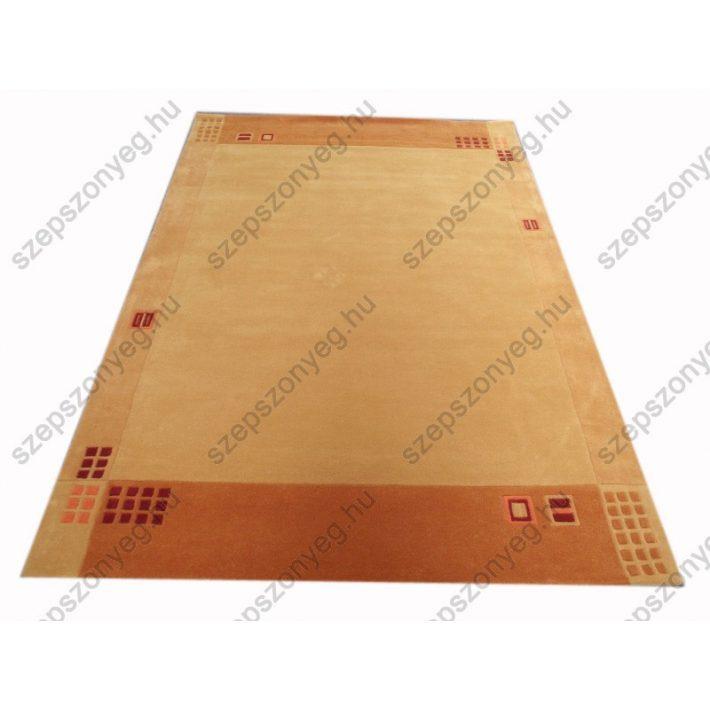 Tilda kézi tűzésű bézs narancs szőnyeg 160 x 230 cm