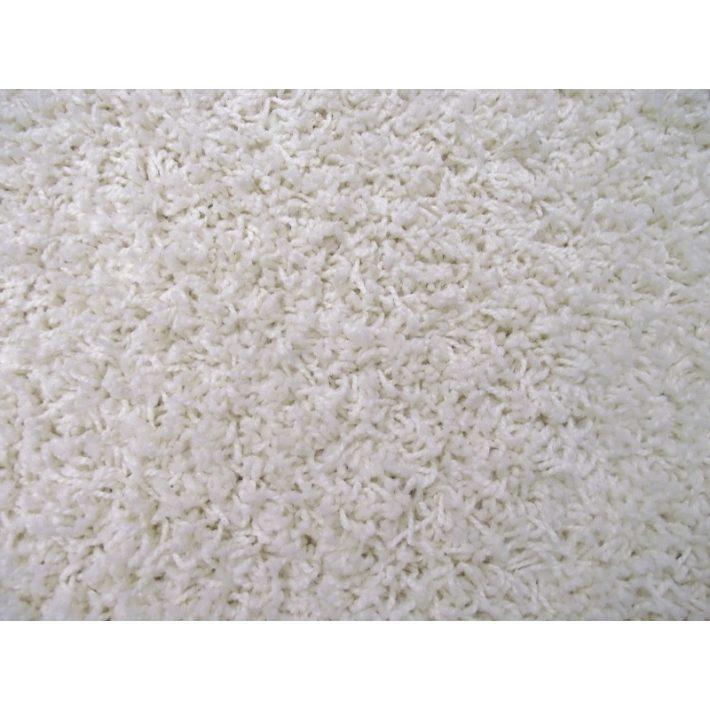 Britta Fehér Shaggy Padlószőnyeg 4 m széles
