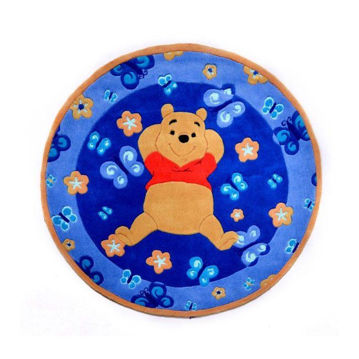 Disney Álmodozó Micimackó kék kör alakú gyerekszőnyeg 150 cm