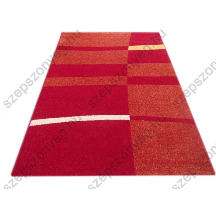 Piri Modern mintás Nyírt szőnyeg piros 200x290cm