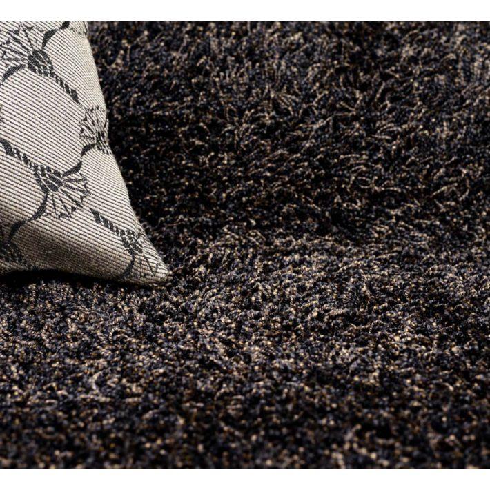 Albina Fehér Shaggy Padlószőnyeg 4m széles