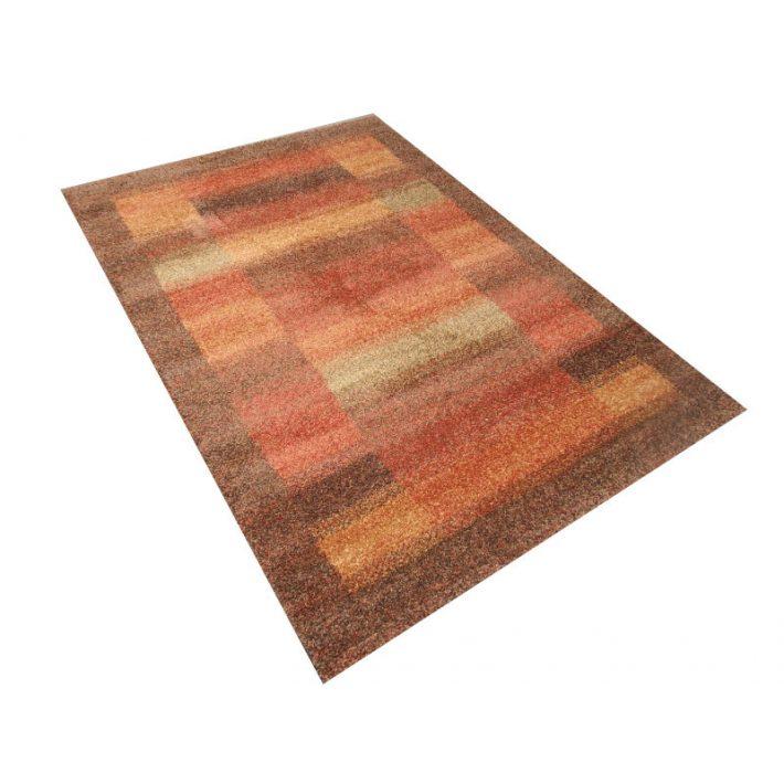 Pen Exkluzív Minőségű Vastag Suba szőnyeg barna-narancs színben 80 x 150 cm
