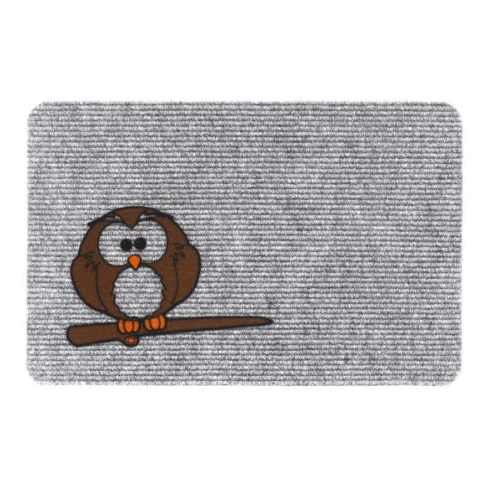 Dezi Dekor Virág mintás szövet-gumi lábtörlő 45 x 75 cm