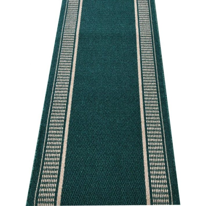 Kiliána Zöld Bézs Tekercses Futószőnyeg 80 cm Széles