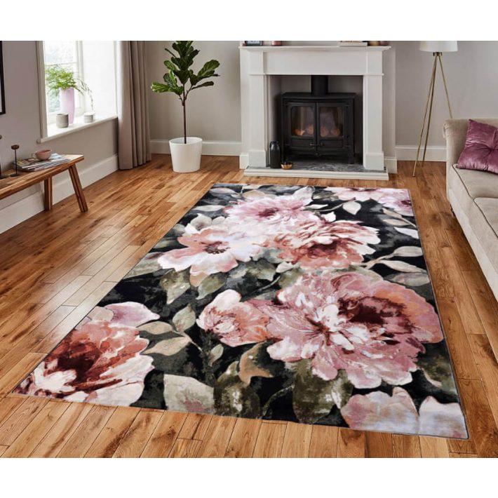 Lourdes Nagy Virágmintás Modern Szőnyeg 200 x 290 cm