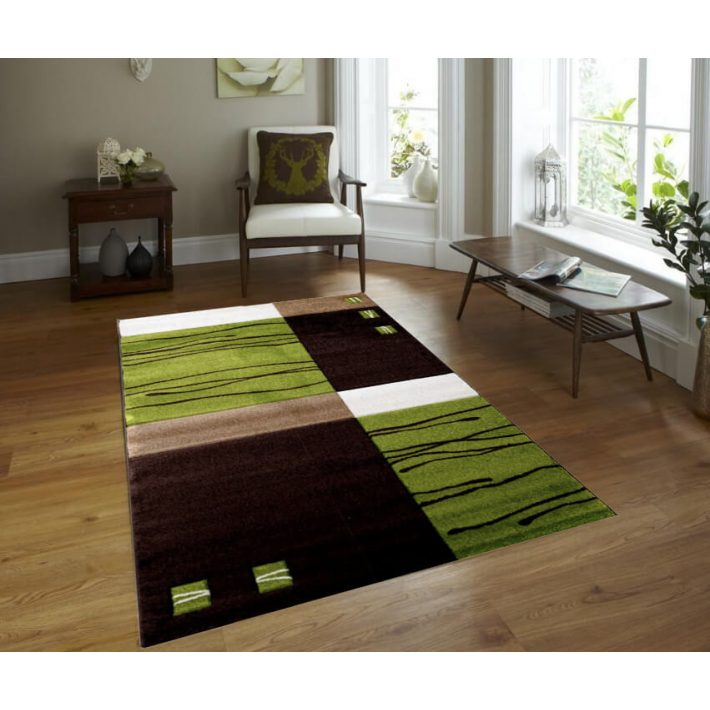 Mirande Zöld-Barna Nappali Szőnyeg 200 x 275 cm
